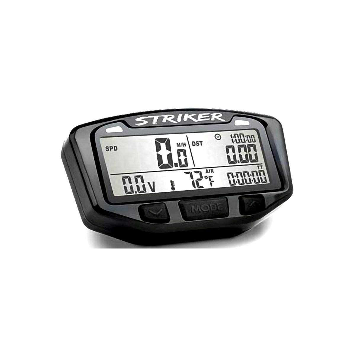 Trail Tech 712-120 Black Striker Speedometer Digital Gauge Kit with Volt Meter by Trail Tech