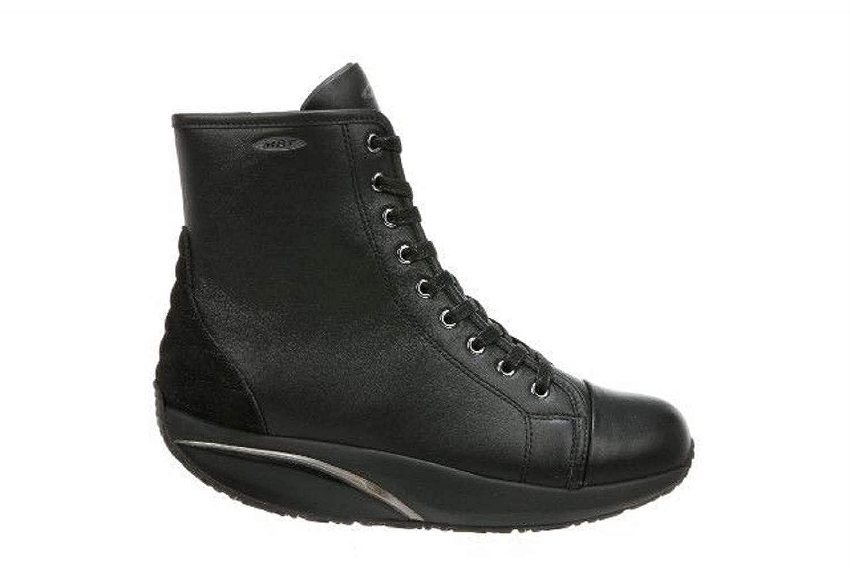 MBT Damen 70094403Nschwarz Schwarz Leder Stiefeletten