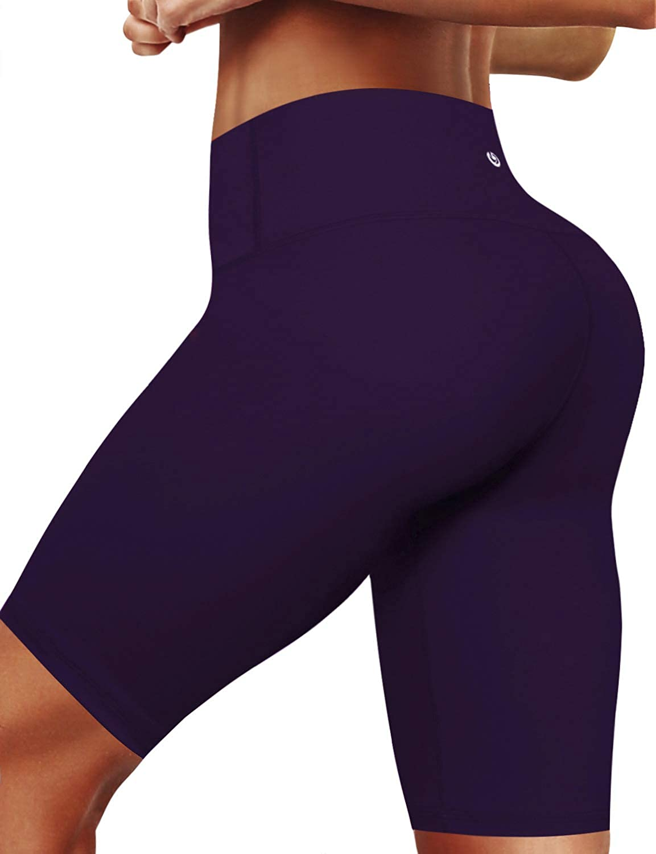 Bwsb011 Eggplantpurple(8 inseam) BUBBLELIME 2.5   4  Inseam Out Pocket Yoga Shorts Running Shorts Active