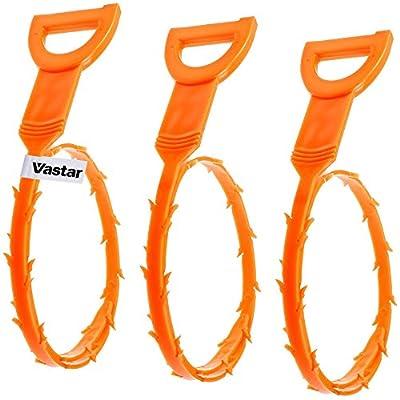 Vastar 3 Pack 19.6 Inch Drain Snake Hair Drain Clog Remover Cleaning Tool by Vastar