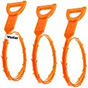 Vastar 3 Pack 23.6 Inch Drain Snakes Hair Clog Remover Cleaning Tool