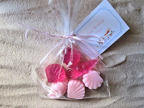10 Sea Shell Organic Soap Favors Weddings Bridal and Baby Showers