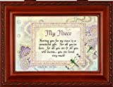 Cottage Garden My Niece Woodgrain Music Jewelry Box - Plays You Are My Sunshine