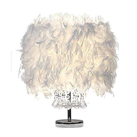 Branddb Lámpara de Mesa de luz de Mesa de Plumas de Cristal ...