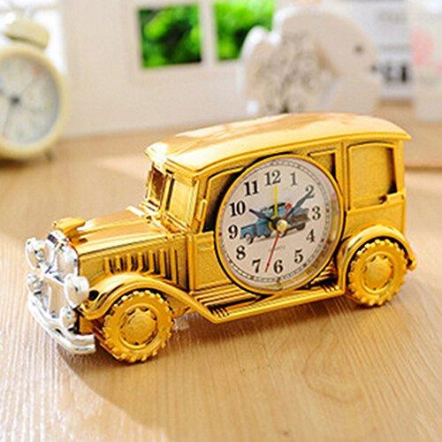 KAKA(TM) Vintage Car Bubble Car Design Digital Alarm Clock Creative Gifts for Kids Children Car Lovers - (Treasures Vanity Bench)