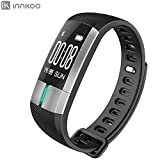 ECG + PPG Electrocardiogram & Heart Rate & Blood Pressure Fitness Tracker Watch - InnKoo G2 Waterproof Activity Monitor Steps Calories Counter Smart Bracelet Wristband Sports Band Sleep Tracker