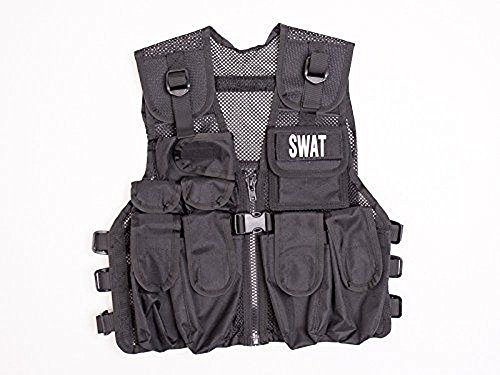 Swat Team Member Costume (Kids Combat Vest, Kids Special Forces Black Stealth Combat Vest, Swat)