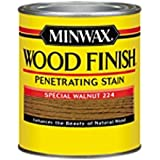 Minwax 222404444 Wood Finish Penetrating Interior Wood Stain, 1/2 pint, Special Walnut