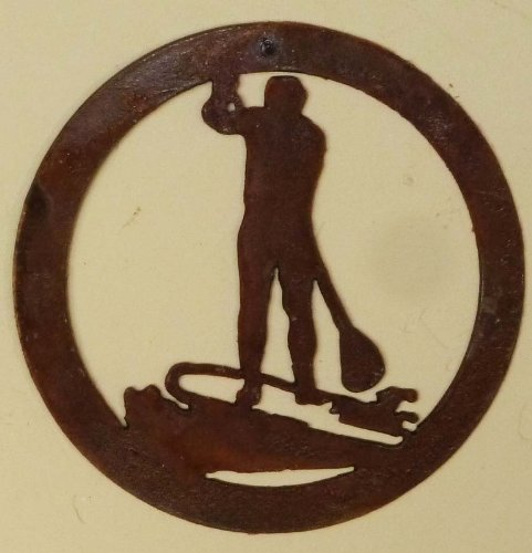 Ornament Paddle Boarder Metal Rustic product image