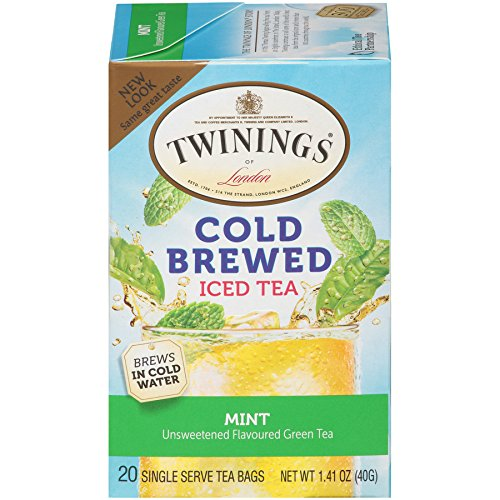 Delight Bouquet (Twinings Cold Brew Tea, Green Tea with Mint, 20 Count Bagged Tea (6 Pack))