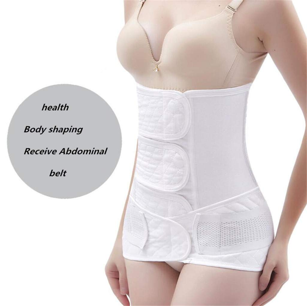 2 In 1 Pure Cotton Gauze Postpartum Support C-Section Recovery Belt Recovery Belly/Waist/Pelvis Belt Waist Trainer Belts Body Shaper,Pink,M [Energy Class A] WGE