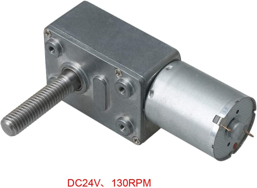 90rpm Homeswitch JGY370 DC24V Self-Locking M8 Shaft Reduction Geared Electric Motor