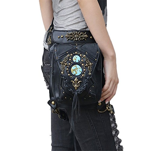 New Steam Punk Retro Messenger Bag Skull Taschen