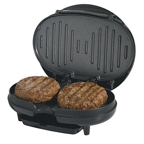 Black Cast Aluminum Compact Electric Grill