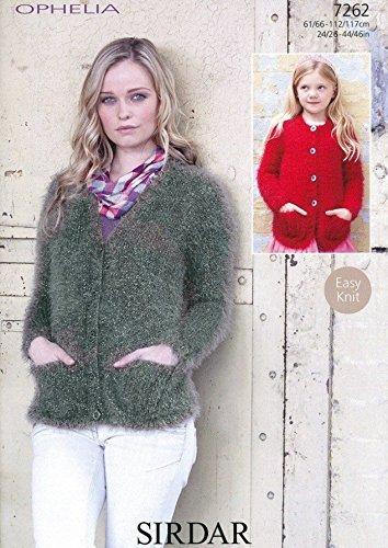 Amazon Sirdar Ladies Girls Cardigans Ophelia Knitting Pattern