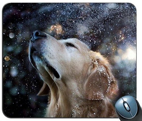 - Cute Golden Retriever Puppy Mouse Mat Pad - Labrador Dog Gift PC Computer