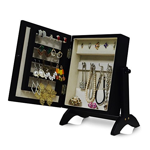Charmant Organizedlife Small Jewelry Box Armoire Mirror Cabinet Organizer Desktop  Ring Storage Beige Felt   Buy Online In UAE.   Kitchen Products In The UAE    See ...