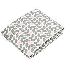 Kushies Baby Portable Play Pen Fitted Sheet, Grey Petal