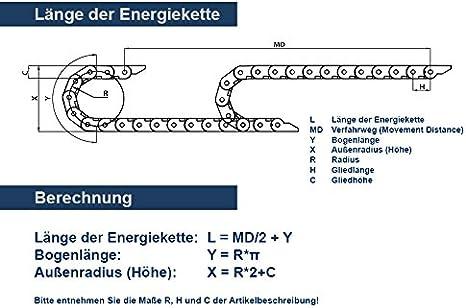 40 Glieder//L/änge 1m 1 Beutel 15mm breit Energiekette CK 15