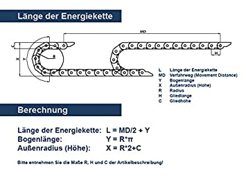 Energiekette CK 15 20mm breit einzelne Glieder