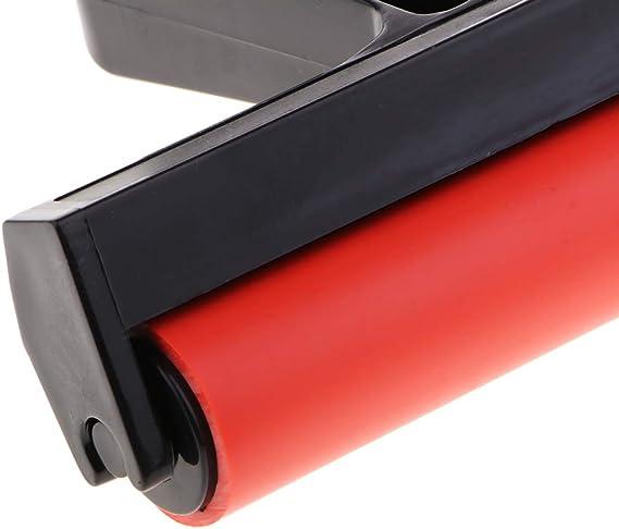 Rot 1x Gummiwalze Farbwalze Gummi Roller Andr/ückroller f/ür Blockdruck Handwerk Kunst 15 cm Schwarz