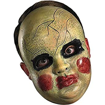 Disguise Costumes Smeary Doll Face Mask, Adult