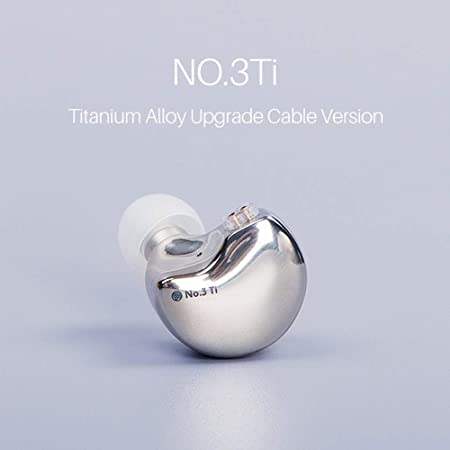 Linsoul TFZ NO.3 TI Dynamic Driver HiFi in-Ear Earphones with Titanium Alloy Shell, 2Pin 0.78mm Detachable Cable