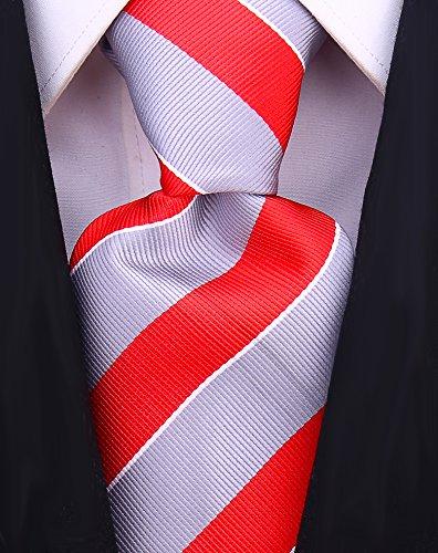 lege Striped Necktie - Red/Gray (Gray Stripe Tie)