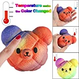 Jinjin Temperature Color Change Toy,Scented Charm Slow Rising Stress Relief Toy Gift (Multicolor)