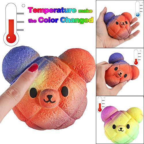 Bus Giant School (Gotian PU Squeeze Toy, Temperature Color Change Slow Rising Scented Reliever Stress Gift)