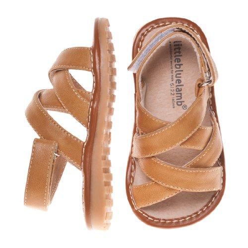 Little Blue Lamb Squeaky Schuhe Sandalen Klettverschluss creme beige Beige