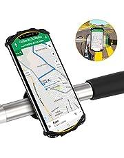 VUP Fahrrad Handyhalterung, Universal 360° Drehbarer Silikon Handyhalter Fahrradlenker Motorrad für 4.0 bis 6.5 Zoll Smartphones Schwarz