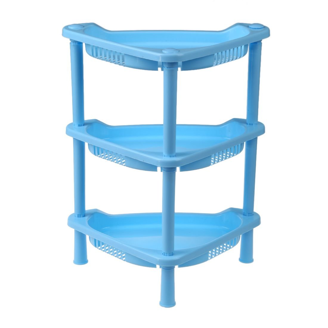 Amazon.com: SODIAL(R) 3 Tier Plastic Corner Shelf Organizer Cabinet ...