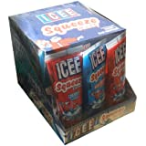 Icee Squeeze Candy Cherry, Green Apple, and Blue Raspberry (Pack of 12)