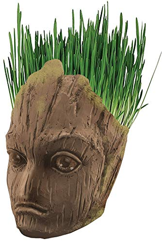 Marvel Infinity War Groot Ceramic Mug With Cat Grass Seed Packet - Bundle Of 2 ()