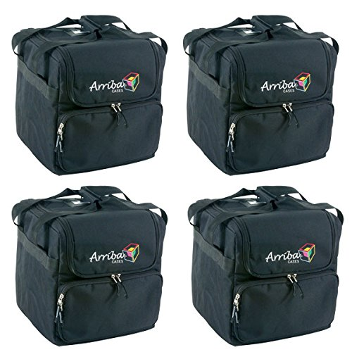 Arriba AC-125 Professional DJ Lighting Soft Case 4-Pack