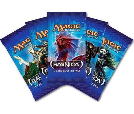 The Gathering Return To Ravnica Booster Pack RTR FIVE Pack Lot Magic