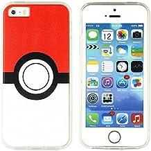 BRILA® iphone 5 5s SE pokemon case, Pokeball Pattern case for iphone 5s, iphone SE pokemon go case