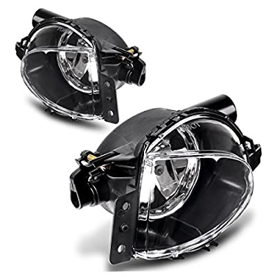 AUTOSAVER88 Fog Lights Compatible with 2006 2007 2008 BMW E90 3 Series (Clear Lens w/Bulbs): Automotive