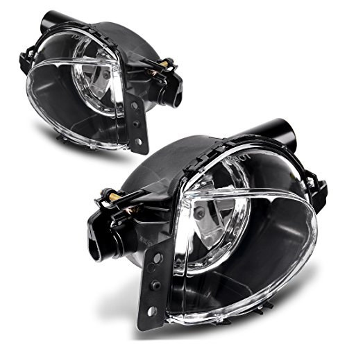 AUTOSAVER88 Fog Lights H11 12V 55W Halogen Lamp For BMW E90 3 Series 2006 2007 2008 (Clear Lens w/Bulbs)