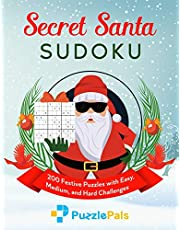 Secret Santa Sudoku: 200 Festive Puzzles with Easy, Medium, and Hard Challenges