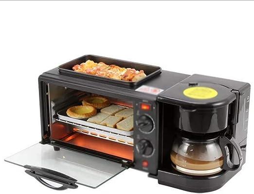 GHDGENJN Mini Horno, Inicio Multifunción Desayuno Electromecánico Horno, Máquina De Café Hervido Frito Tres-En-Uno Desayuno Robot De Cocina Horno: Amazon.es: Hogar