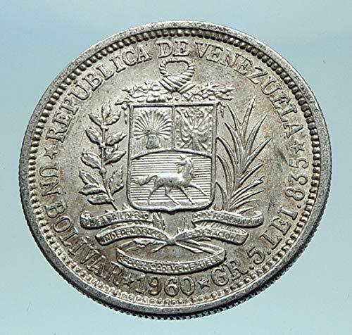 - 1960 unknown 1960 Freemason President Simon Bolivar VENEZUELA coin Good Uncertified