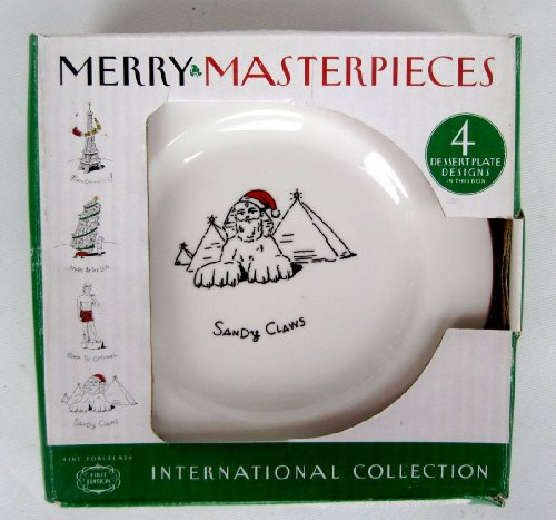 Merry Masterpieces International Collection 4 Dessert Plates