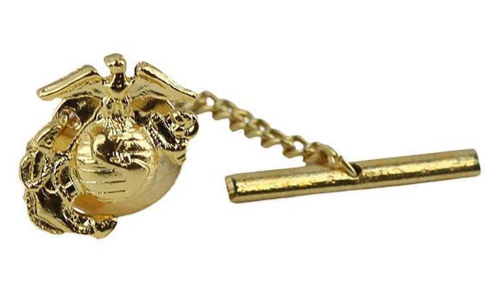 US Marine Corps 24k Gold Emblem Tie Tac by Vanguard