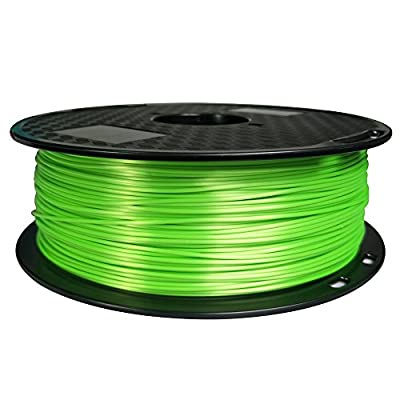 Silk Green PLA Filament 1.75mm 3D Printer Silky Filament 1kg (2.2LBS) Printing Shiny Material