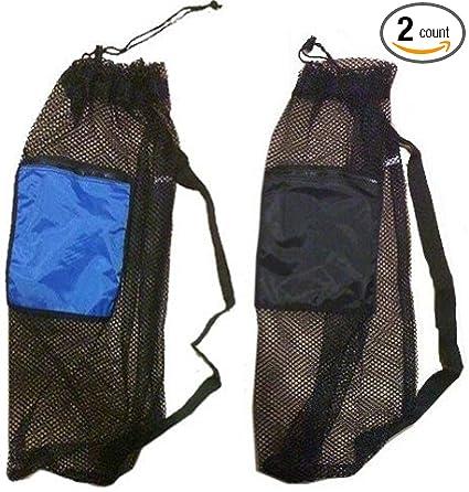 Scuba Diving Fins Mesh Drawstring Gear Bag Backpack /& Shoulder Strap Black