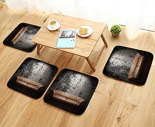 - UHOO2018 Modern Chair Cushions Leather Sofa in Room Convenient Safety and Hygiene W23.5 x L23.5/4PCS Set