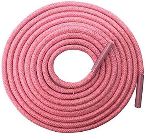 TMYQM 普通のブーツスニーカー のための固体太いラウンドワックス靴ひもドレスレザーシューズワックス靴ひもロープ文字列 (Color : 19 Pink, Size : 140CM)