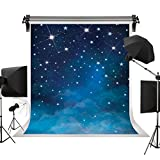 Kate 5x7ft Evening Blue Sky Photography Backdrops Universe Background Stars Night Sky Fantasy Backdrop Stars Background for Children Birthday Photo Studio